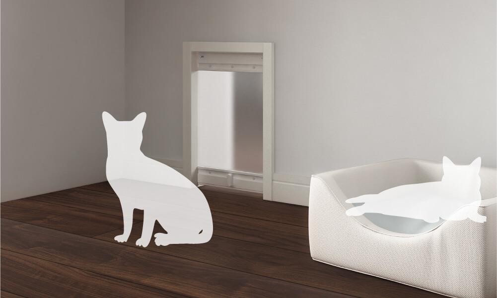 壁の猫ドア