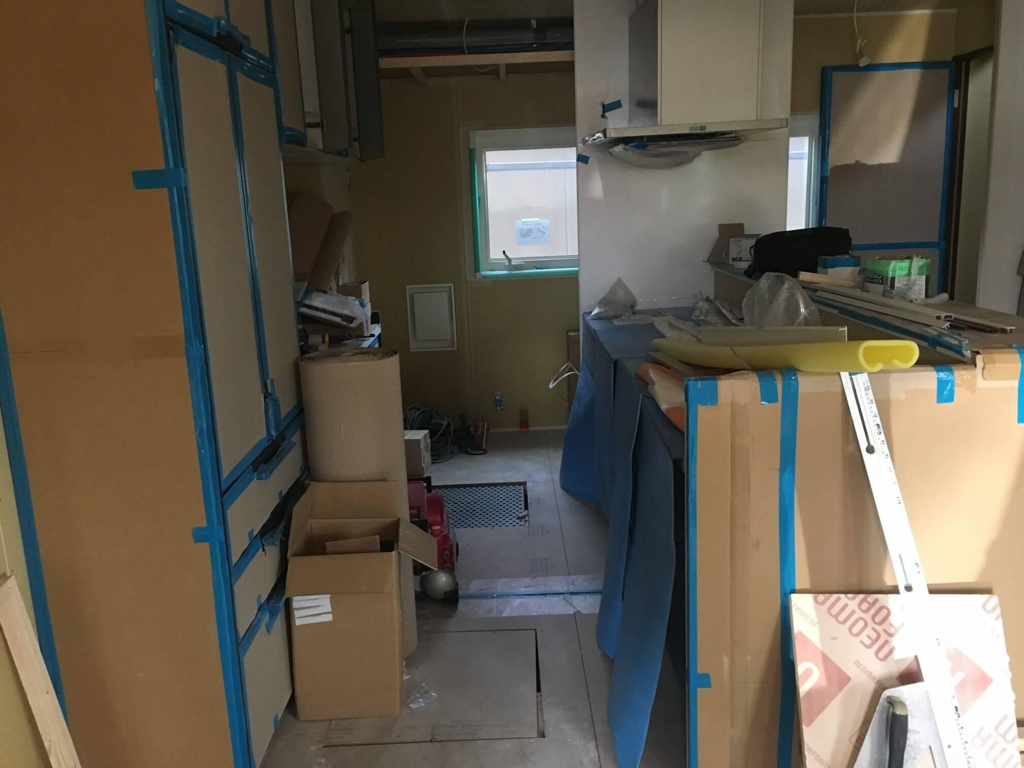 内装工事 キッチン