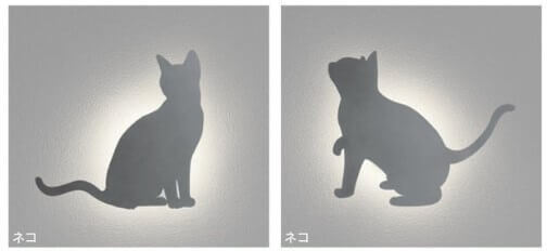 点灯した猫ライト